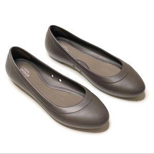 Crocs Lina Ballet Flats Brown 6